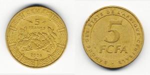 5 франков 2006 года