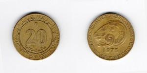 20 сантимов 1975 года