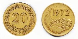 20 сантимов 1972 года