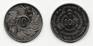 10 франков 2011 года