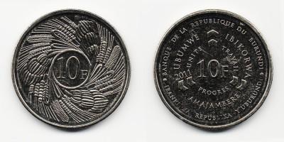 10 francs 2011