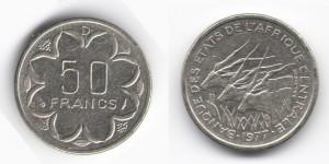 50 франков 1977 года
