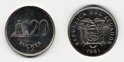 20 sucres 1991
