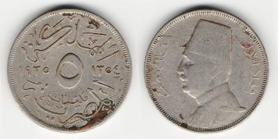 5 milliemes 1935
