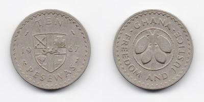 10 pesewas 1967