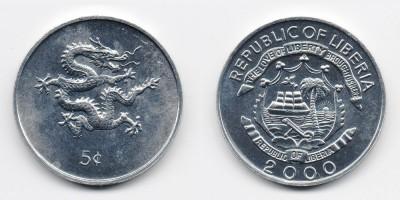 5 центов 2000 года