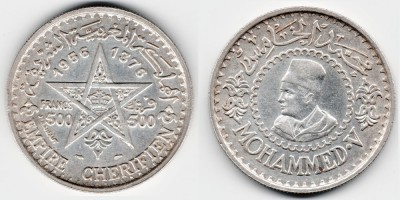 500 francs 1956