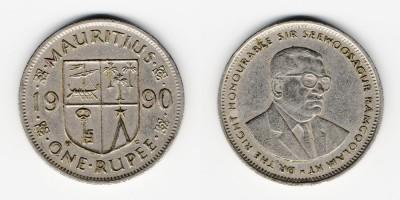 1 рупия 1990 года