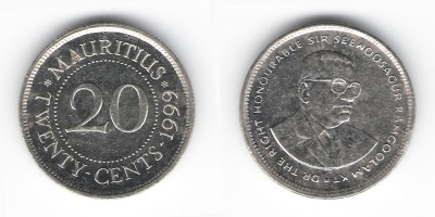 20 центов 1999 года
