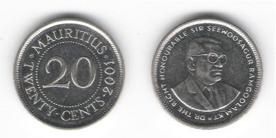 20 центов 2001 года