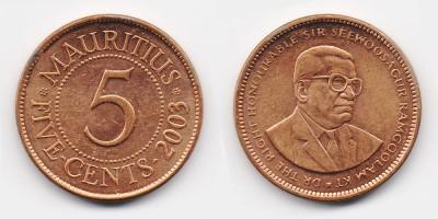 5 центов 2003 года