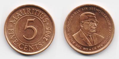 5 центов 2005 года