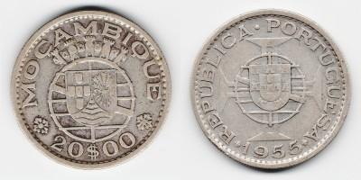 20 эскудо 1955 года
