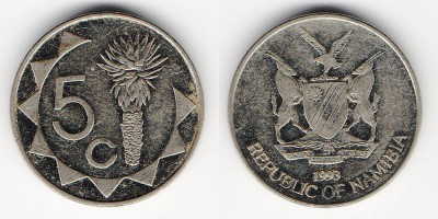 5 cents 1993