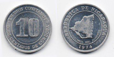 10 сентаво 1974 года