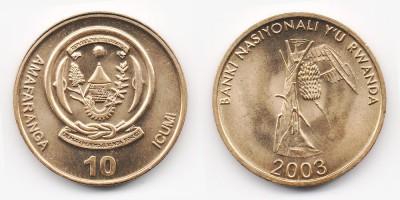 10 francs 2003