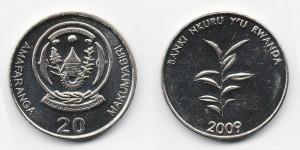 20 франков 2009 года