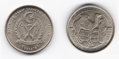 1 peseta 1992