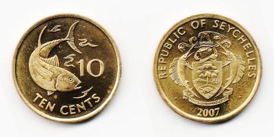 10 центов 2007 года