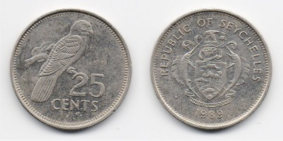 25 центов 1989 года
