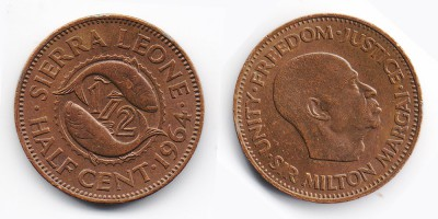 ½ cents 1964