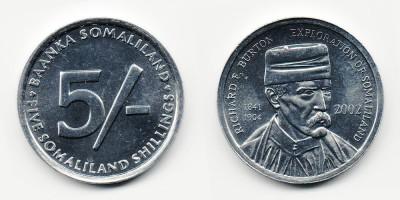 5 шиллингов 2002 года