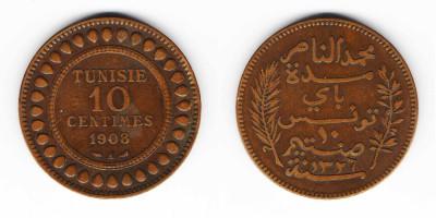 10 сантимов 1908 года