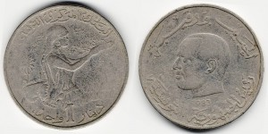 1 динар 1983 года