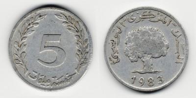 5 миллимов 1983 года