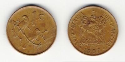 1 цент 1987 года