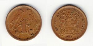 1 цент 1991 года