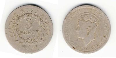 3 пенса 1939 года