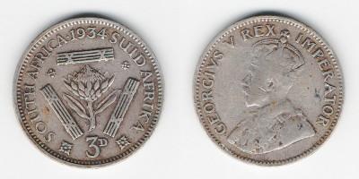 3 pence 1934