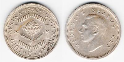 6 пенсов 1952 года