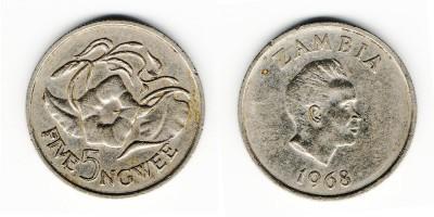 5 ngwee 1968