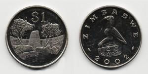 1 доллар 2002 года