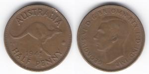 1/2 пенни 1941 года