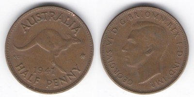 1/2 penny 1941