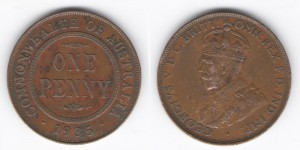 1 пенни 1935 года