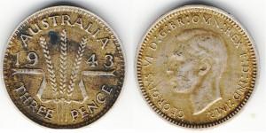3 пенса 1943 года