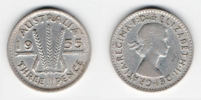 3 пенса 1955 года