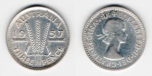 3 пенса 1957 года
