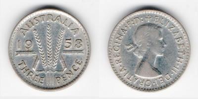 3 пенса 1958 года