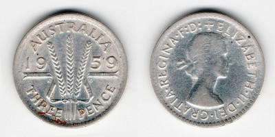 3 пенса 1959 года