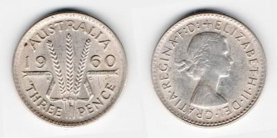 3 пенса 1960 года