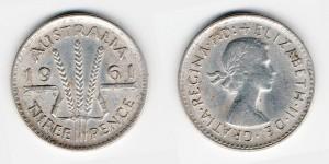 3 пенса 1961 года