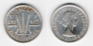 3 пенса 1962 года