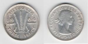 3 пенса 1964 года