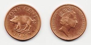 1 цент 1997 года