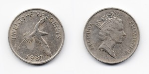 25 центов 1987 года
